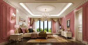 欧式风格别墅室内浅粉色女生卧室装修效果图赏析