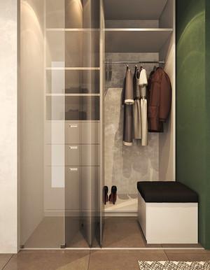 后现代风格一室一厅一卫室内装修效果图