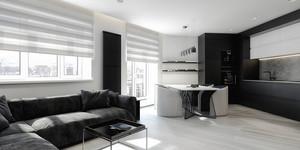 后现代风格单身公寓室内装修效果图鉴赏