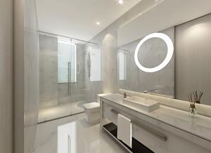 12平米现代简约风格卫生间隔断设计效果图