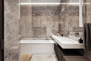 现代简约风格三居室卫生间装修效果图鉴赏