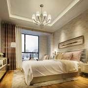 现代简约风格卧室欧式吊灯装修效果图赏析