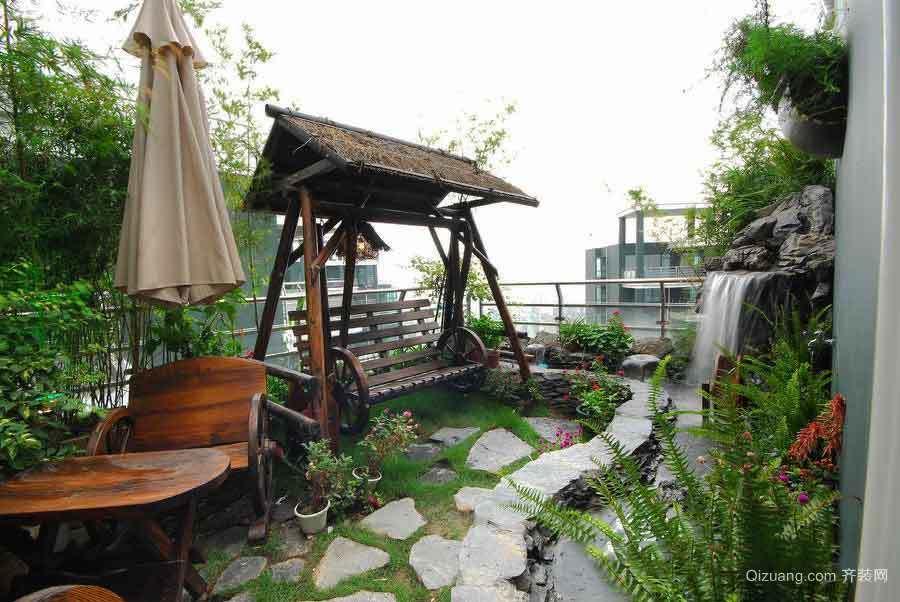 现代风格大户型屋顶花园设计效果图