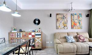 70平米现代工业风格一居室装修效果图赏析