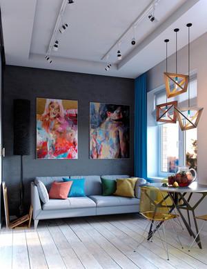 90平米现代简约风格室内装修效果图鉴赏