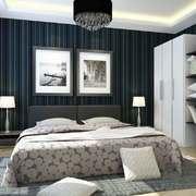 现代简约风格冷色调卧室背景墙装修效果图