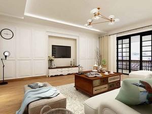 156平米现代简约美式风格大户型室内装修效果图