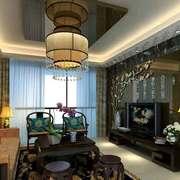 大气精致中式风格客厅吊灯设计效果图