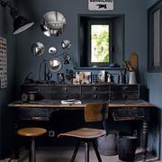 10平米北欧风格书房黑色书桌效果图赏析