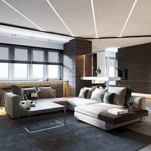 40平米现代风格精致男生单身公寓设计效果图