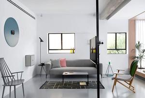 90平米现代极简主义风格室内装修效果图
