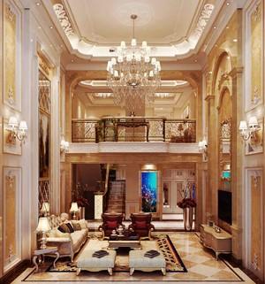360平米巴洛克风格别墅室内装修效果图案例