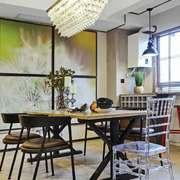 北欧风格两居室室内餐厅吊灯设计装修效果图