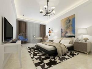 北欧风格自然舒适一居室小户型装修效果图