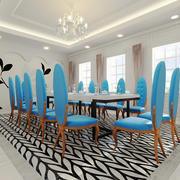 142平米简欧风格餐厅装修效果图鉴赏