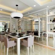 现代简约风格三居室餐厅吊顶装修效果图