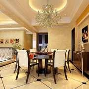 欧式风格别墅室内餐厅背景墙装修效果图赏析