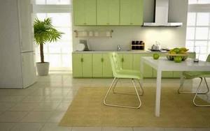 现代简约风格浅绿色厨房装修效果图案例