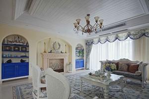 简约地中海风格三室两厅一卫装修效果图赏析