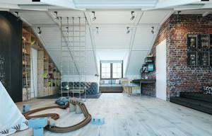 146平米现代简约loft风格室内装修效果图赏析