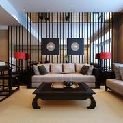 100平米中式风格客厅餐厅隔断设计效果图赏析