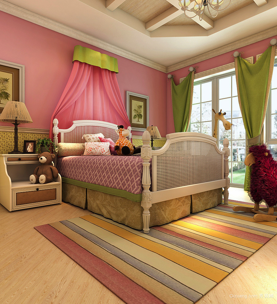 古典美式风格大户型室内装修效果图鉴赏