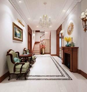 240平米美式风格两层别墅室内装修效果图赏析