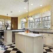 欧式风格别墅室内整体厨房设计装修效果图