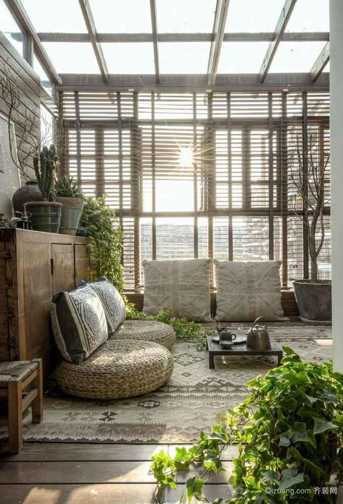 后现代风格大户型入户花园设计装修效果图赏析