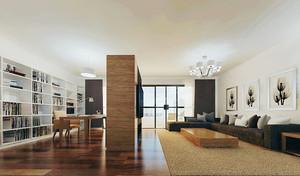 简约日式风格两室两厅一卫室内装修效果图