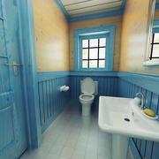 6平米地中海风格小卫生间装修效果图赏析
