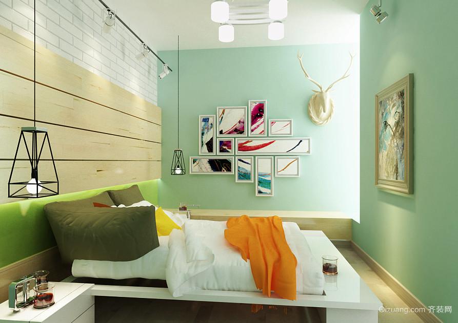 19平米现代田园风格小卧室装修效果图