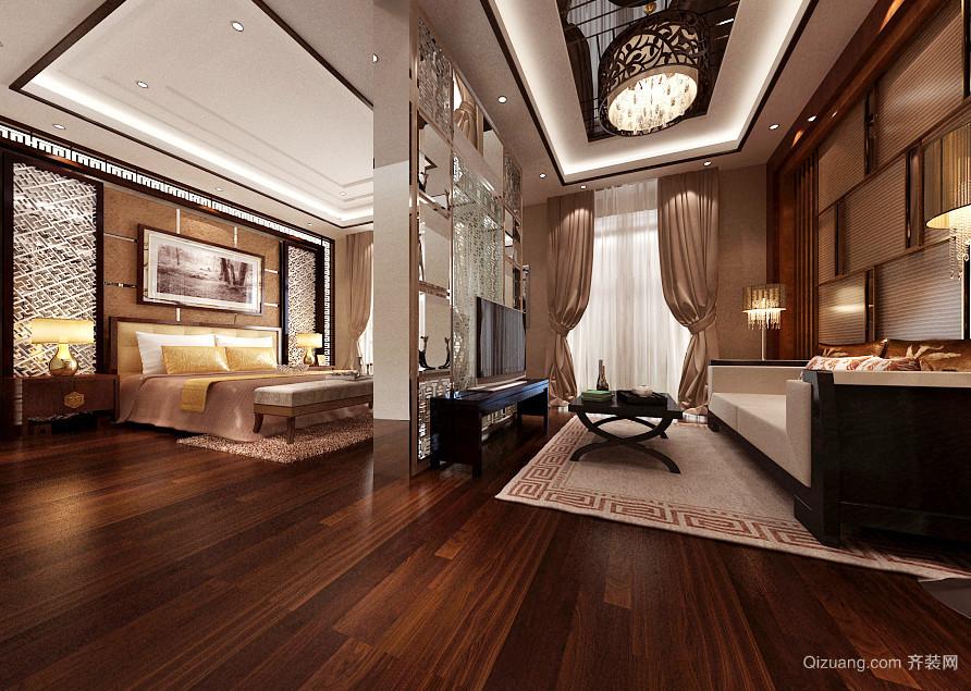 70平米现代风格客厅卧室隔断设计效果图