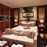 24平米中式风格卧室衣柜设计效果图赏析