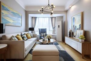 自然轻快现代简约风格两室两厅室内装修效果图