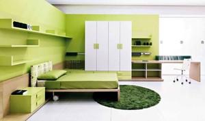 现代简约风格苹果绿卧室装修效果图鉴赏