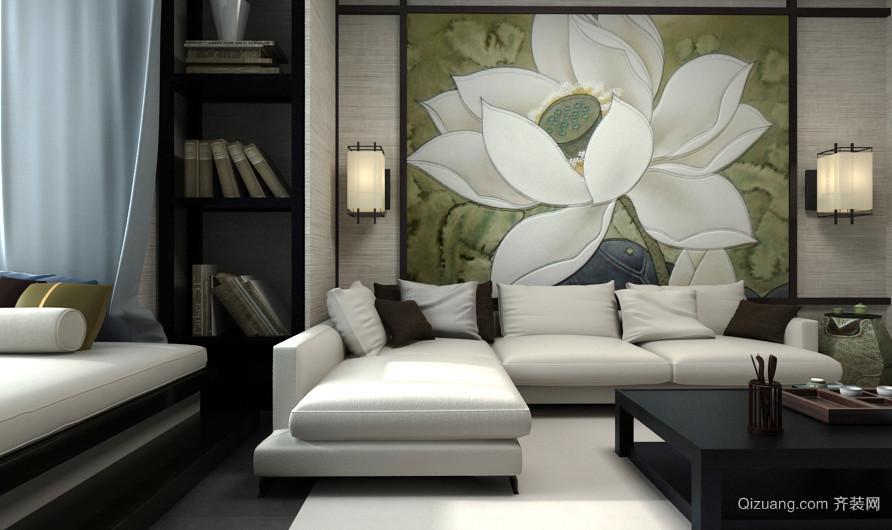 古典中式风格两室两厅一卫室内装修效果图赏析