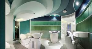 现代风格精致美容院包厢设计装修效果图
