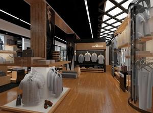 232平米现代简约风格服装店装修效果图