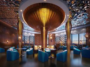 190平米后现代风格咖啡厅装修效果图