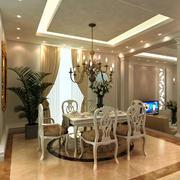 精致简欧风格三居室餐厅装修效果图赏析