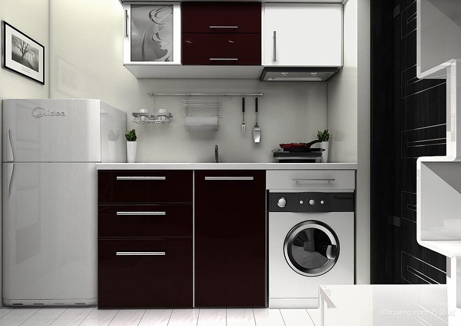 40平米现代简约风格小厨房装修效果图赏析