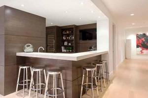 现代简约风格开放式厨房吧台设计装修效果图大全