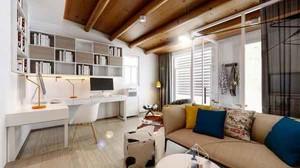 43平米现代风格精致单身公寓装修效果图