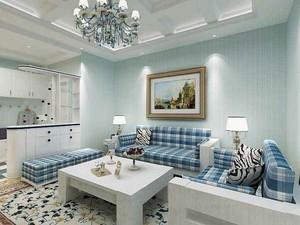 92平米地中海风格三室两厅室内装修效果图赏析