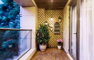 东南亚风格大户型阳台设计装修效果图