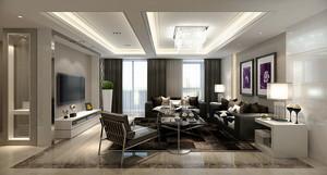 90平米现代风格室内装修效果图案例