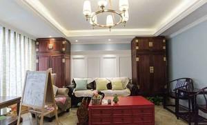 161平米美式混搭风格大户型室内装修效果图