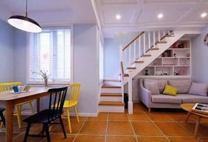 96平米现代美式风格复式楼婚房装修效果图