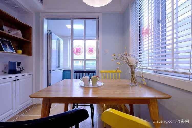 96平米现代美式风格复式楼室内装修效果图